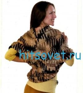 Вязаное болеро спицами, фото 2.
