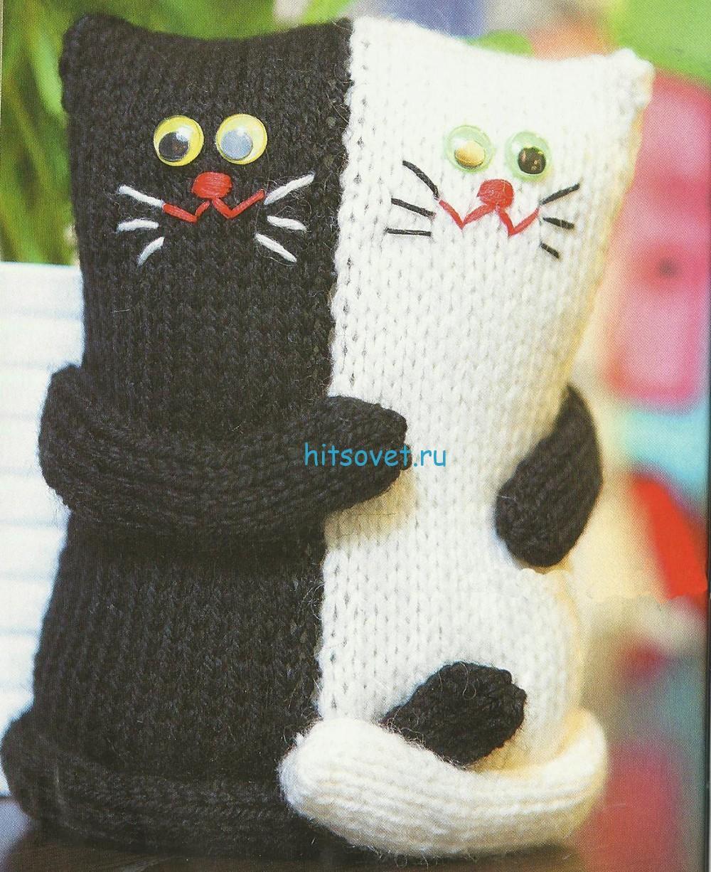 Вязаные коты Близнецы