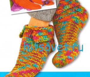 Вязание носков тапочек