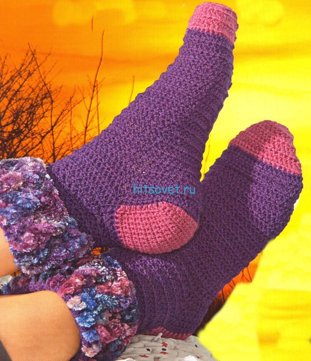 Вязание носков описание