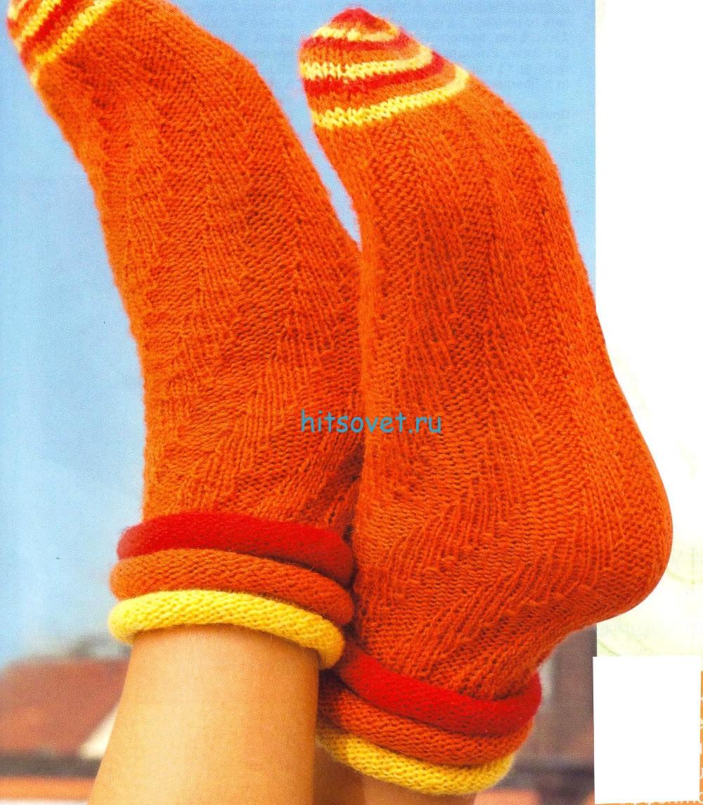 Вязание носков по спирали описание