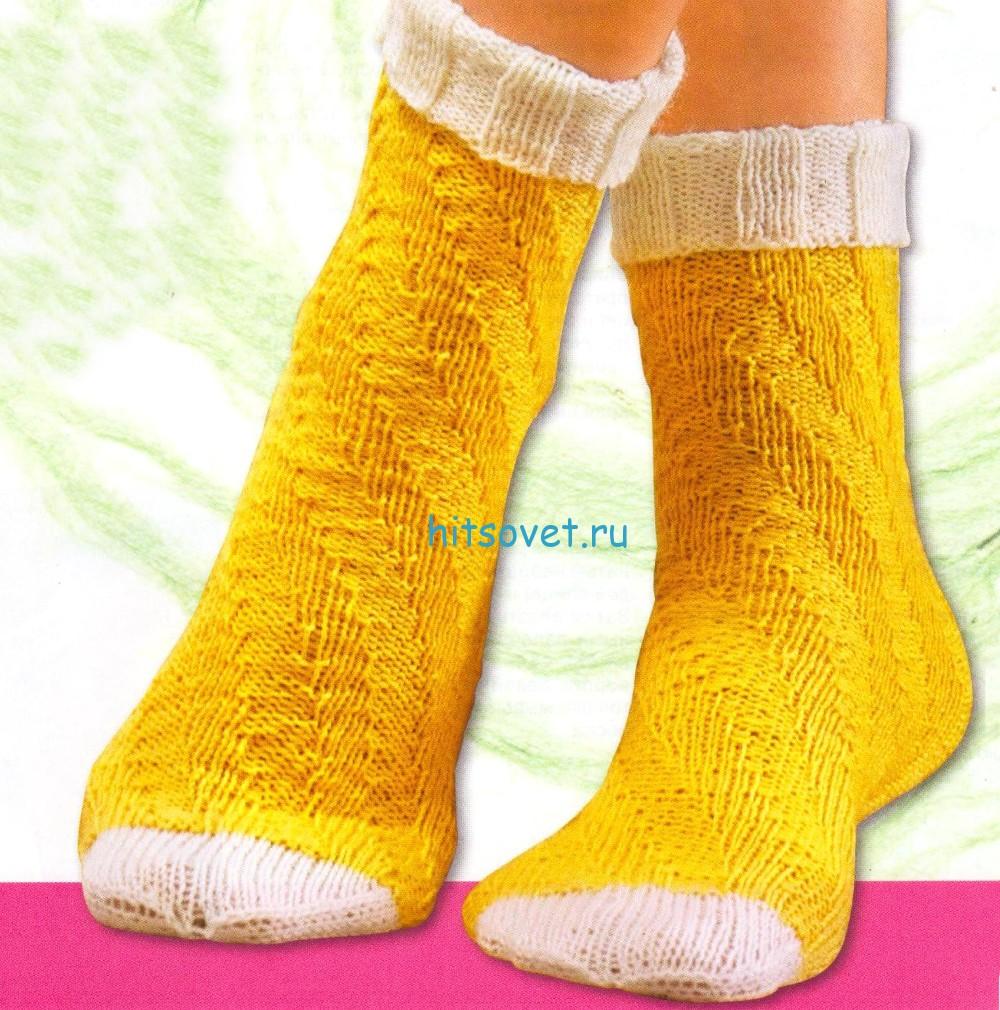 Вязание носков по спирали резинкой
