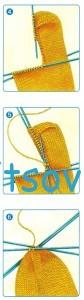 Вязание носков спицами. Мастер класс, прямая пятка, фото 2.