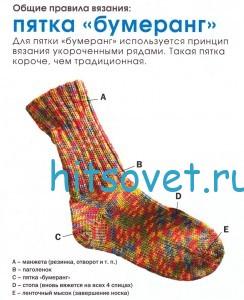 "Вязание носков с пяткой ""бумеранг"""