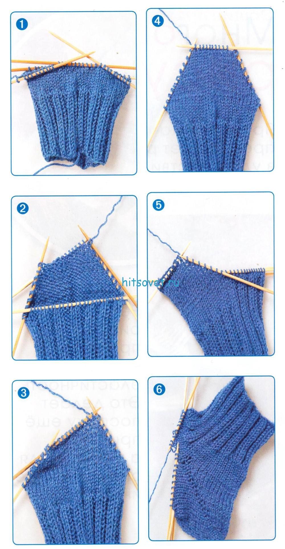 Как вязать на спицах пятку носка: схема и поэтапное описание с 28