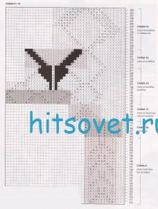 Вязание шали, схема 2.