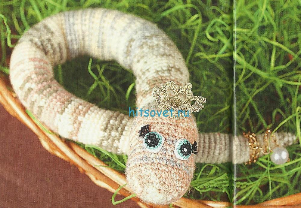 Вязаная змея крючком