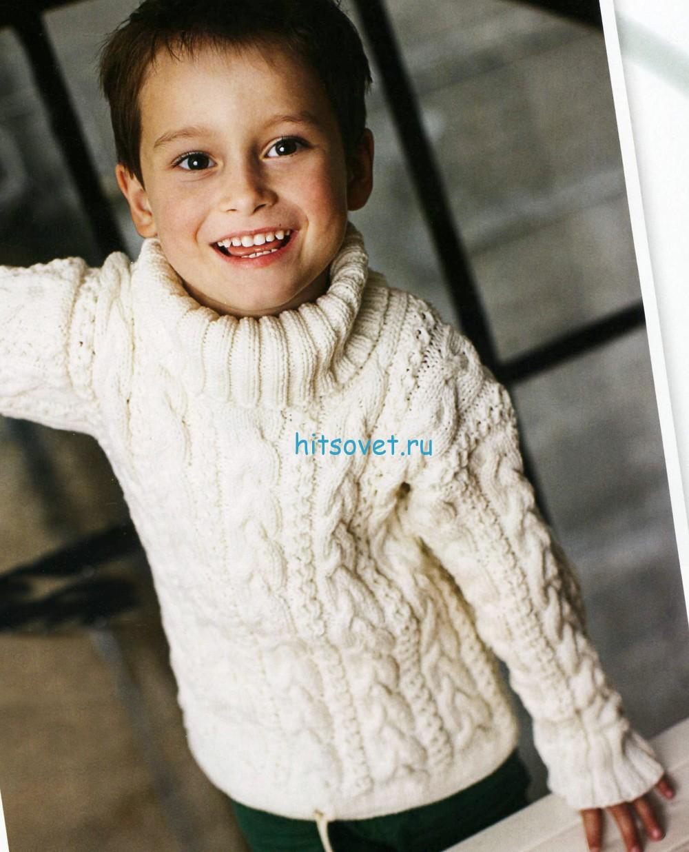 Джемпера для мальчиков вязание
