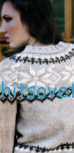 Вязаный женский свитер с жаккардом, фото 2.