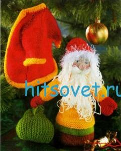 Вязаный Дед Мороз, фото 2.