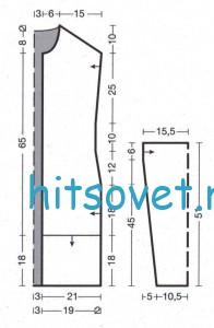 Схема вязания кардигана спицами