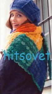 Вязание платка, берета и митенок крючком, фото 2.
