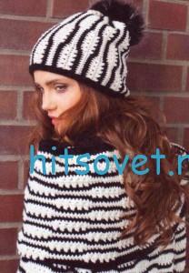 Вязание пуловера, шарфа и шапки крючком, фото 2.