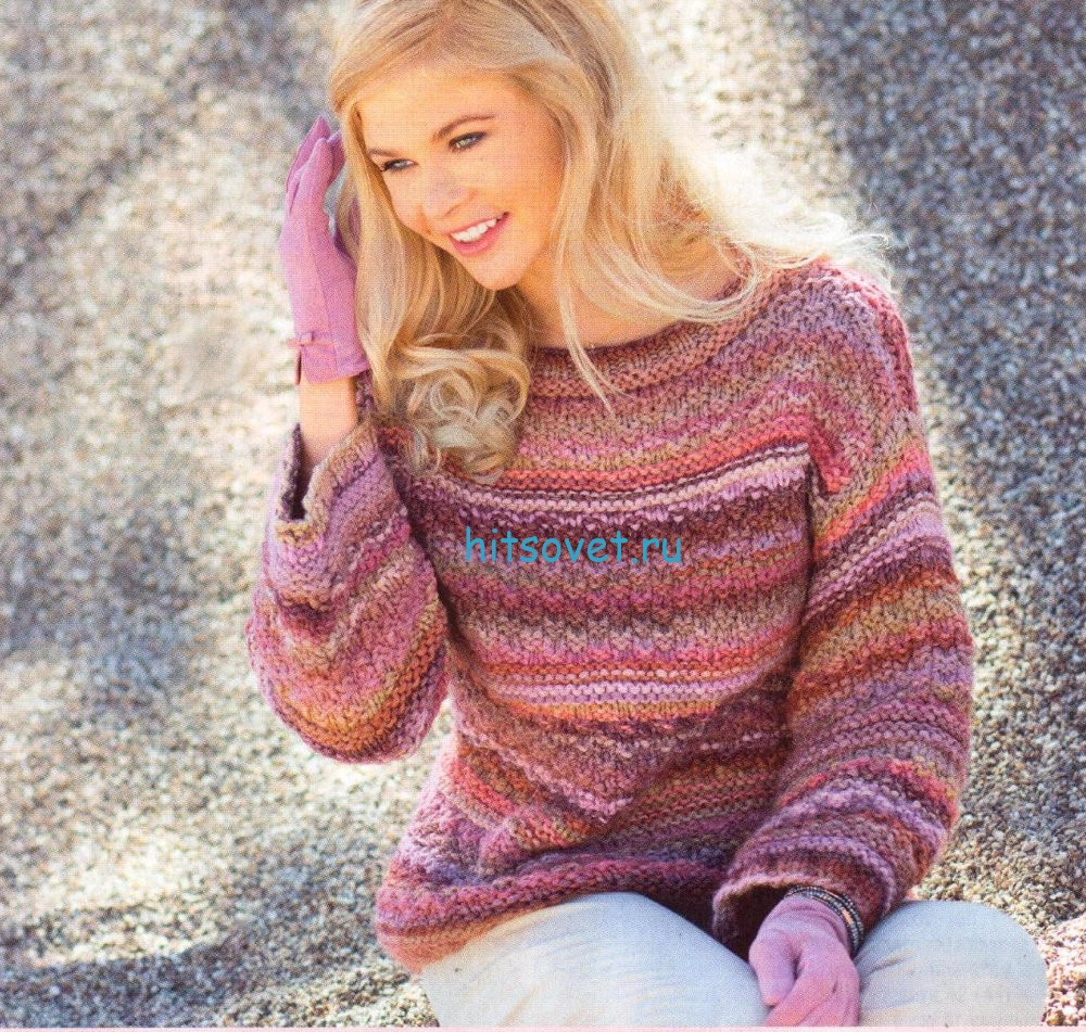 Меланжевый пуловер для женщин