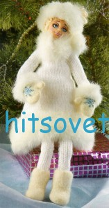 Вязание снегурочки спицами, фото 2.
