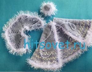 Вязаная Снегурочка в голубом наряде, фото 3.