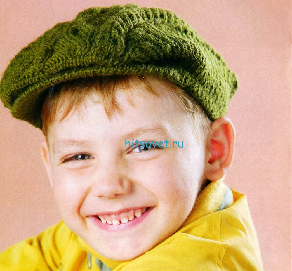 Вязание кепи с аранами, фото.