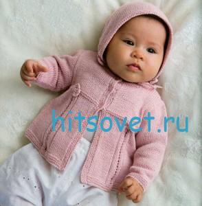 Вязание для новорожденных кофточки с шапочкой