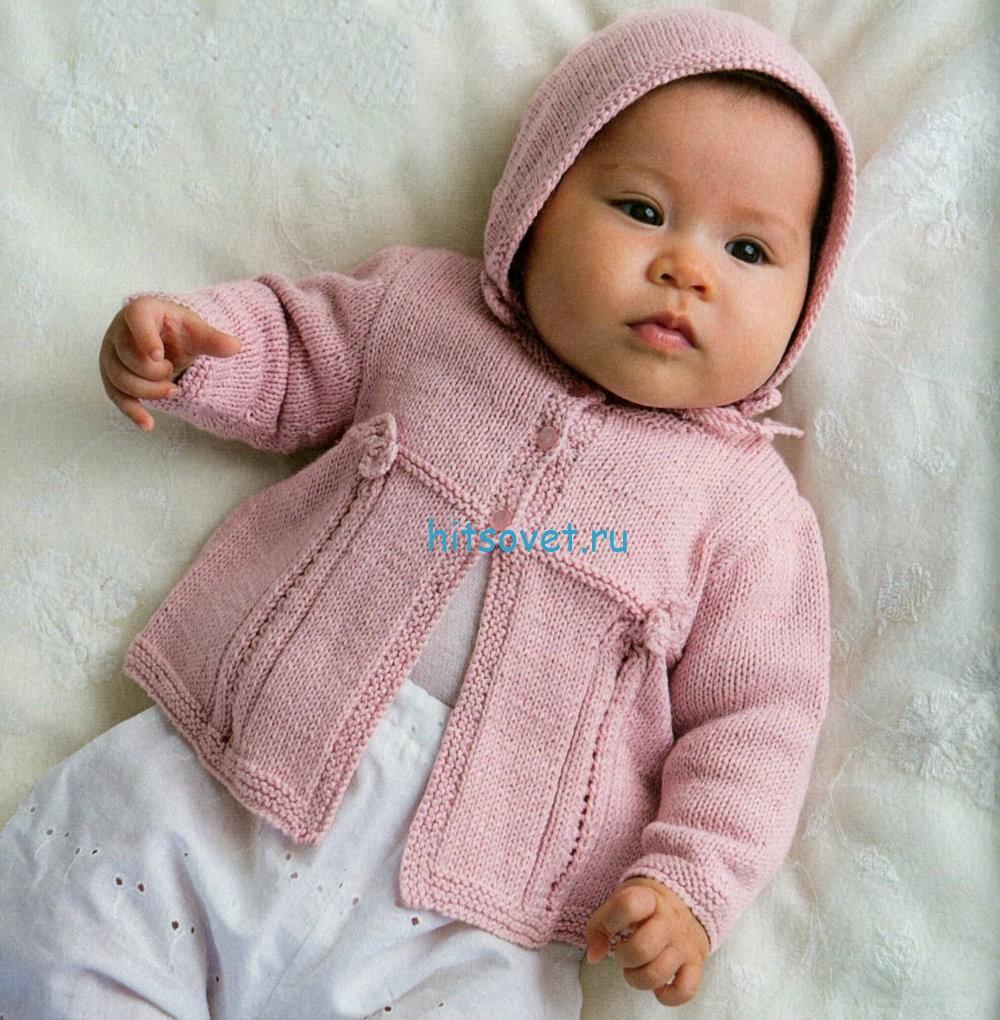 Вязание для малышей кофточки и шапочки