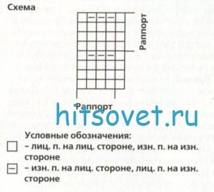 Схема вязания конверта для малыша