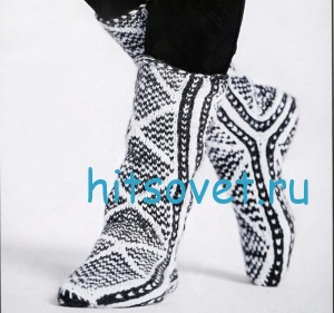 Вязание носков с жаккардом