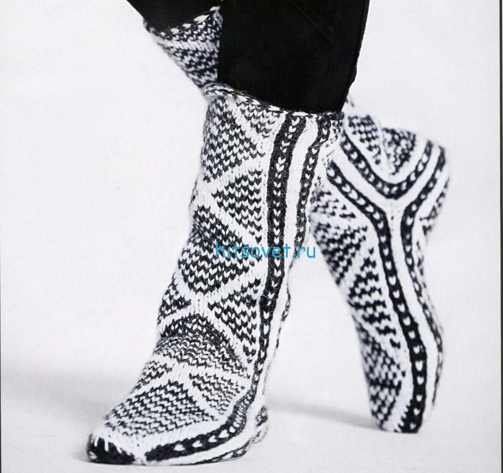 Вязание жаккардовых носков