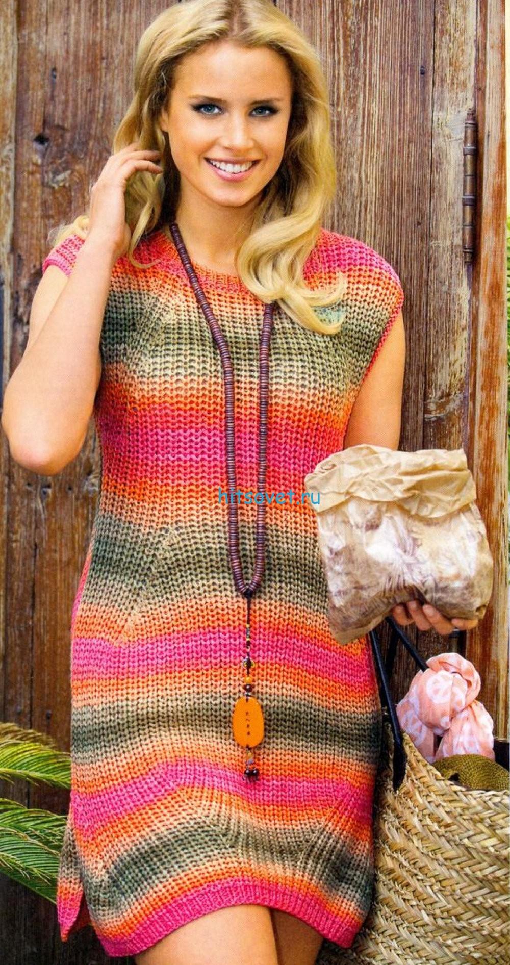 Вязаное из хлопка платье