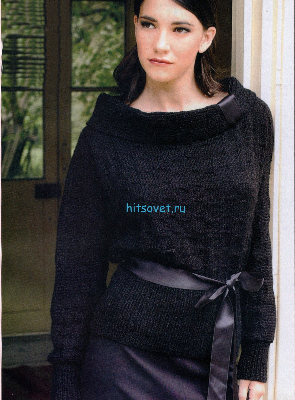 Вязание спицами пуловера летучая мышь