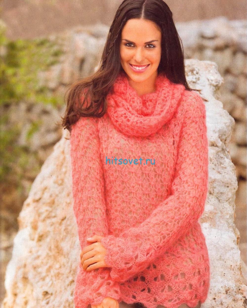 Вязание крючком пуловера схема