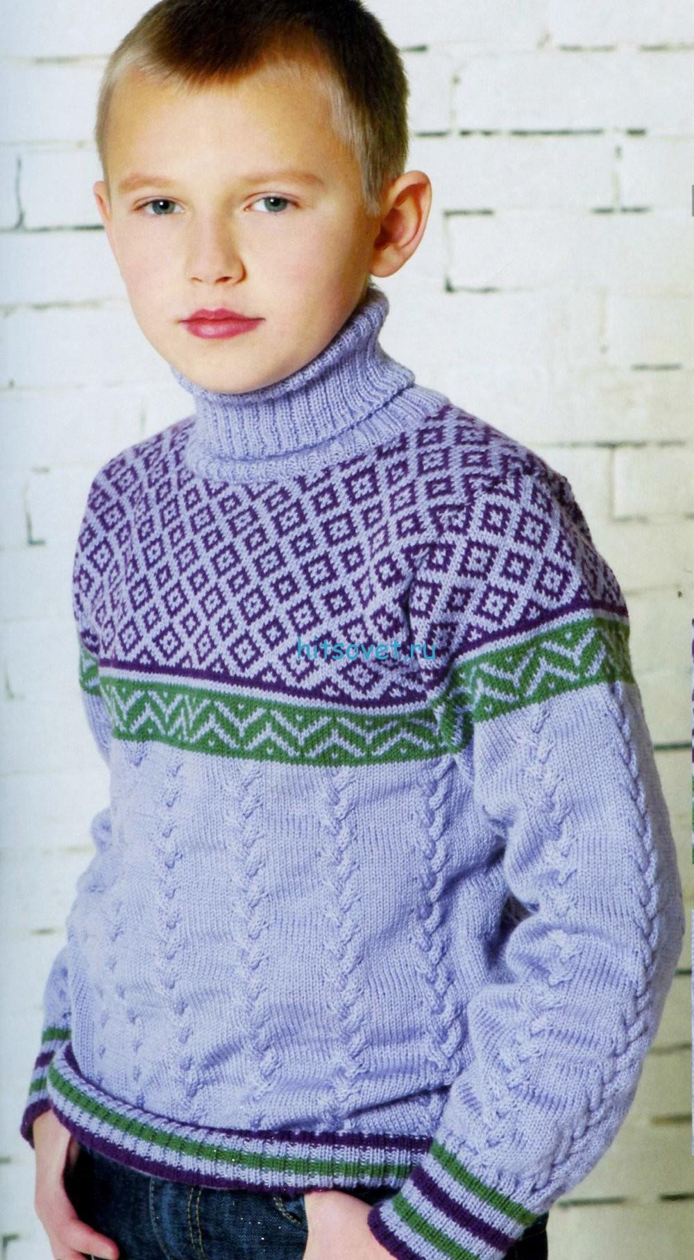 Вязаный для мальчика свитер