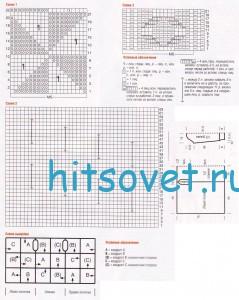 Удлиненный жакет из квадратов, схемы.