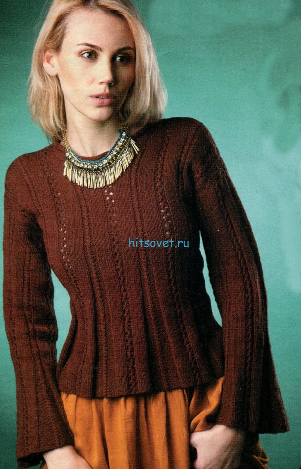 Вязание модной кофточки