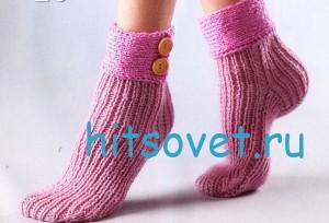 Вязание носков с манжетами