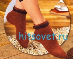 Вязание носков с ремешками описание