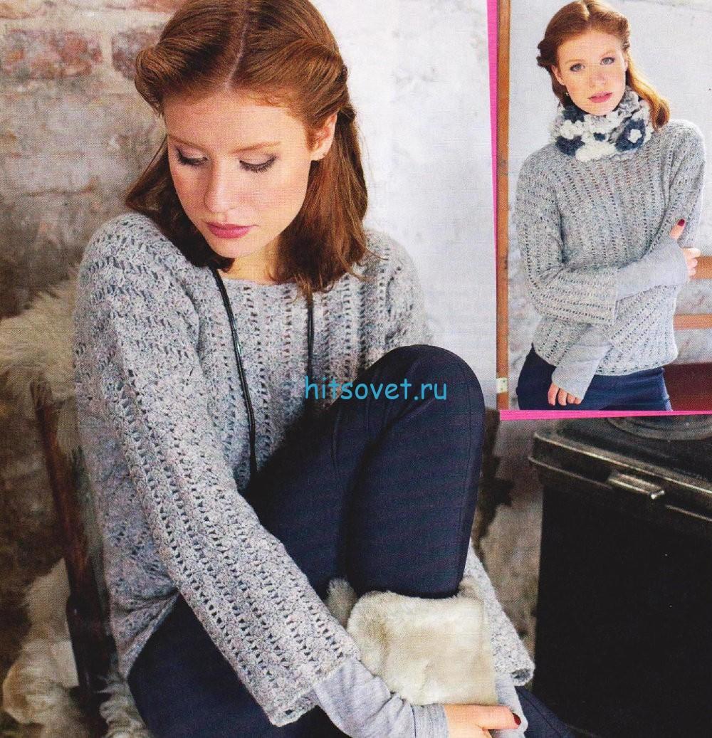Вязание крючком женского пуловера