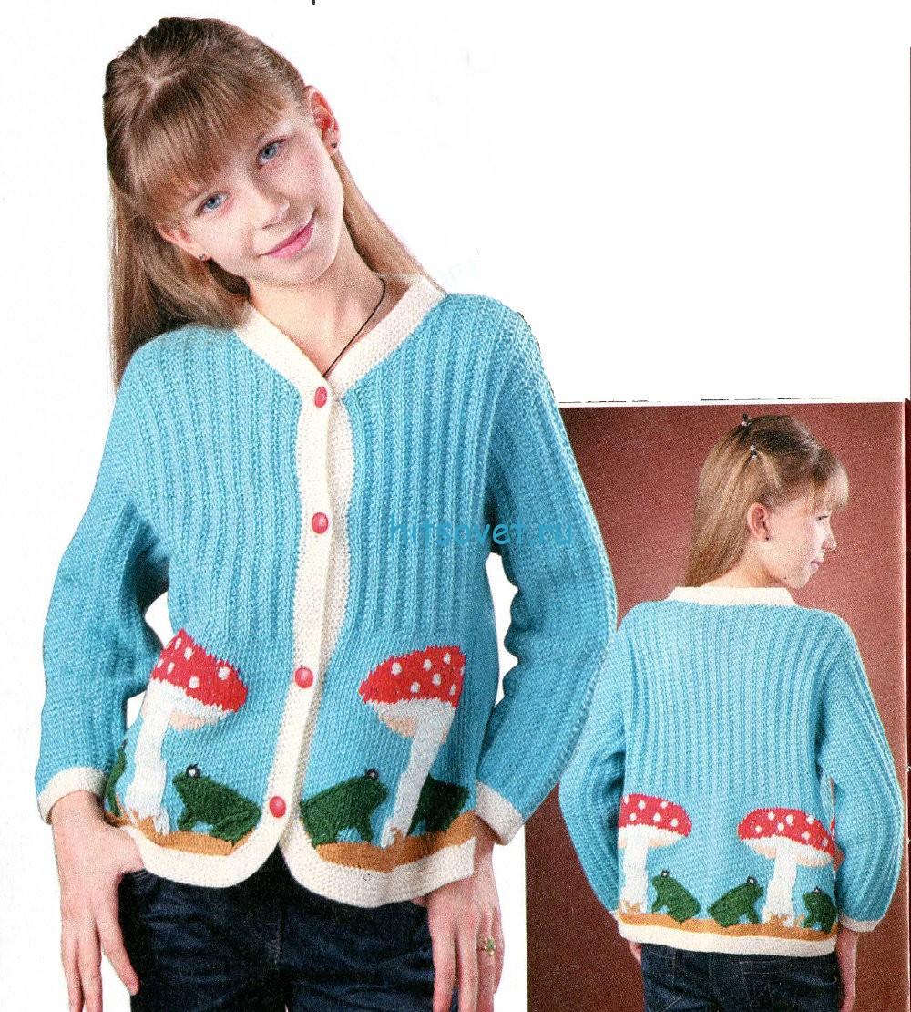 Вязание для девочки жакета со схемой
