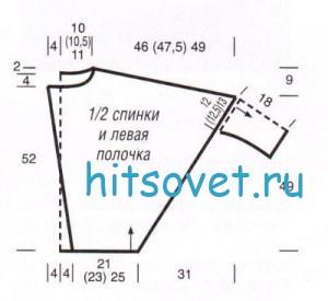 Схема вязания жакета