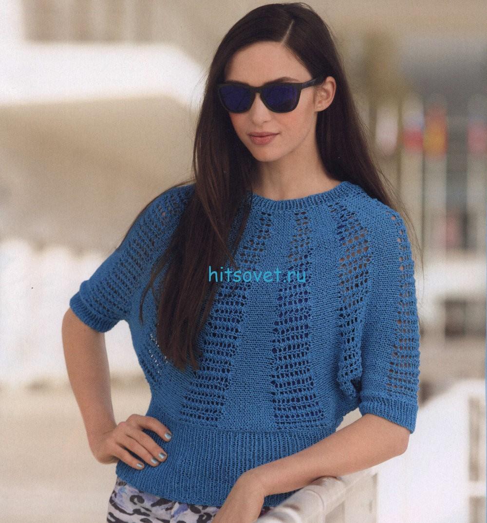 Вязание свободного джемпера для женщин