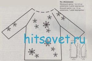 Схема вязания джемпера с жемчужинами
