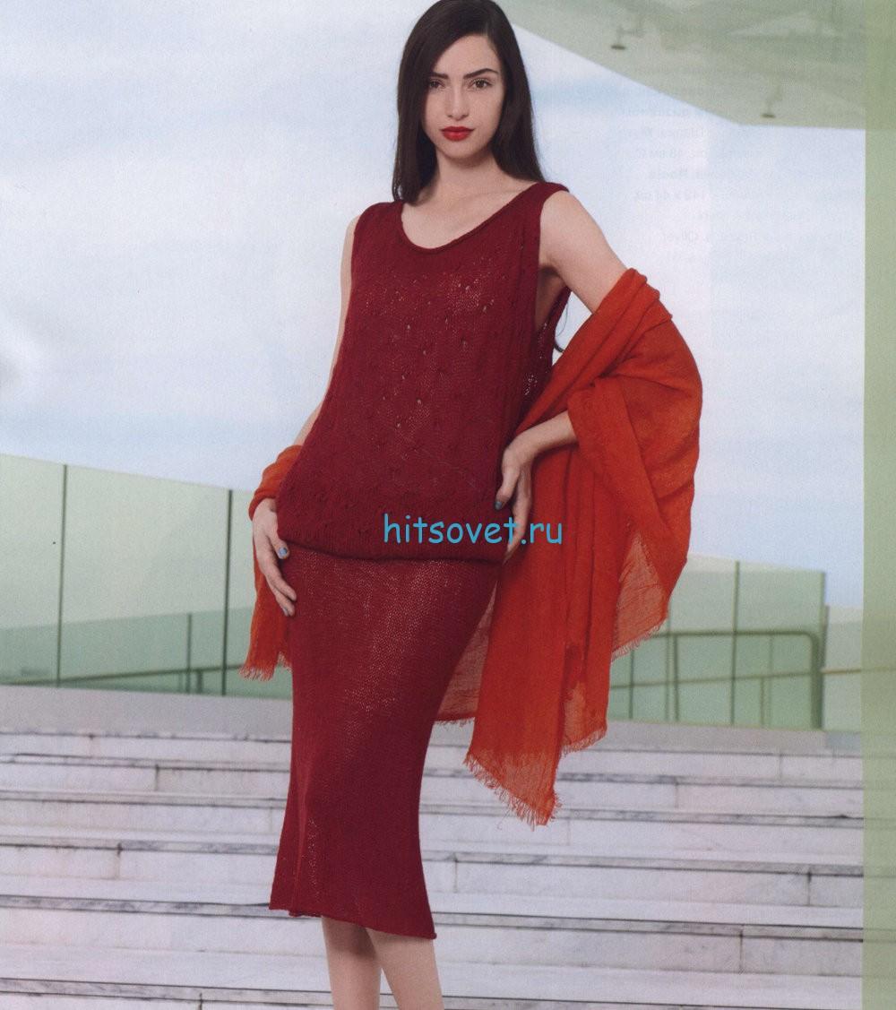Вязание платья описание и схема