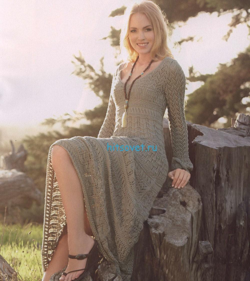 Вязание длинного платья