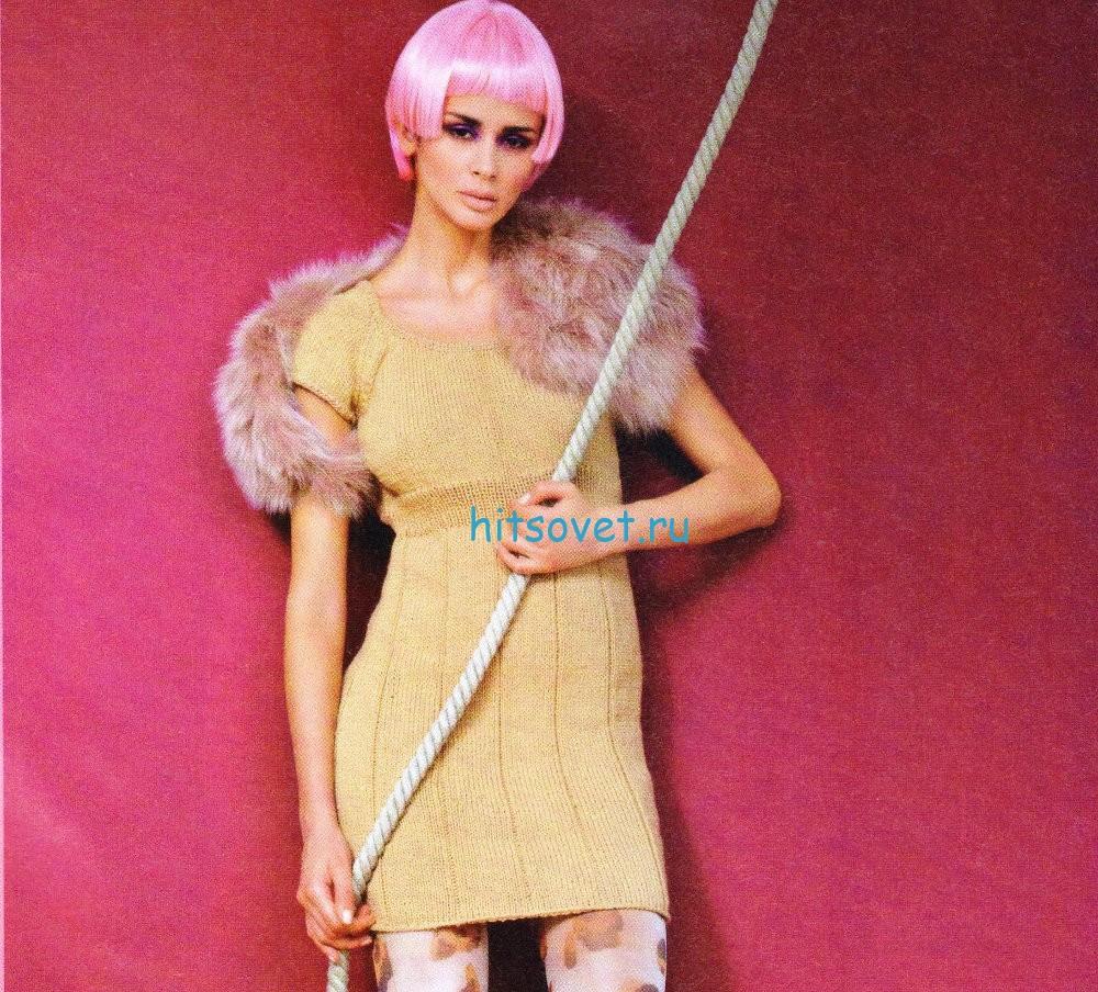 Вязание мини платья