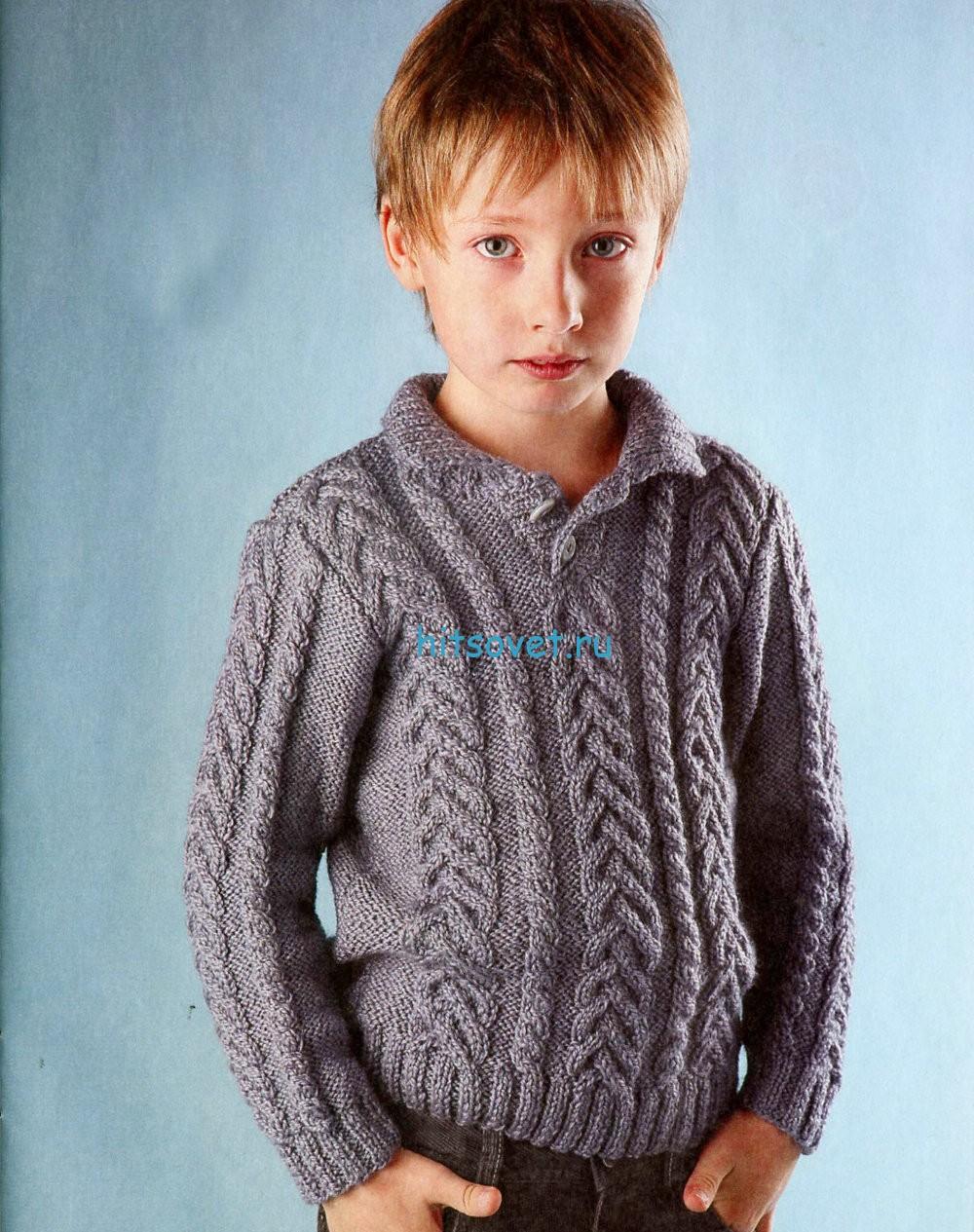 Вязание для мальчиков пуловер поло
