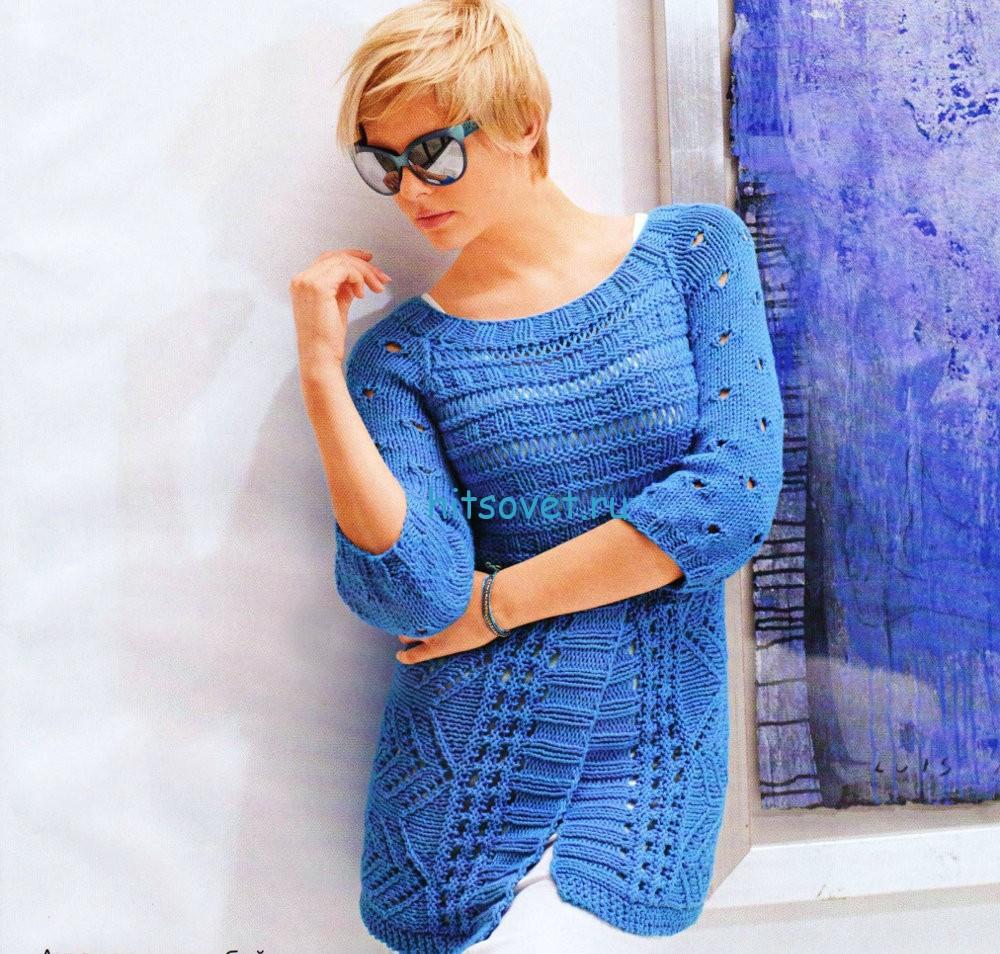 Вязание модной туники, фото.