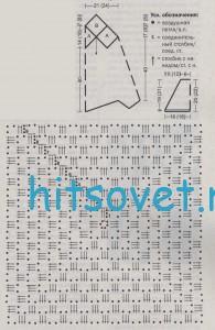 Вязание туники с квадратным мотивом, схема.