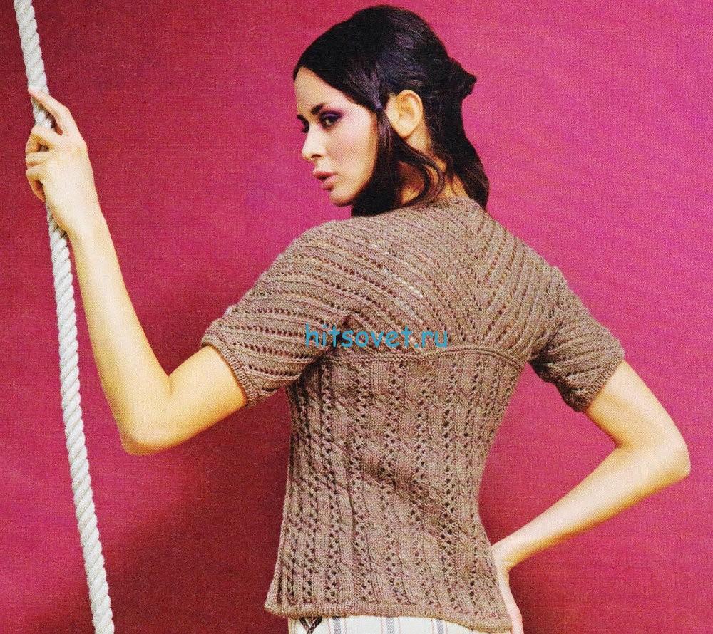 Вязание женского жакета с описанием