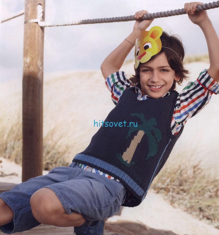 Вязание для мальчика жилета