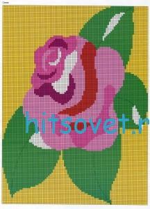 Схема вязания розы