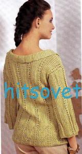 Вязание кофточки с воланом, фото 2.