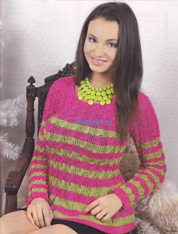 Вязание двухцветной кофточки